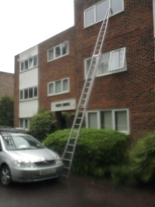 Apartment Harpenden window cleaning ladders