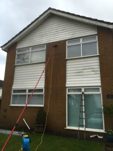 Cleaning soffits fascias bargeboards cladding
