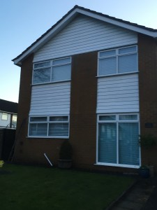 Cleaned soffits fascias bargeboards cladding in Harpenden