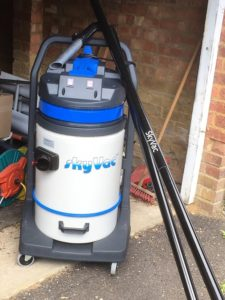 Sky vac machine skyvac gutter clean
